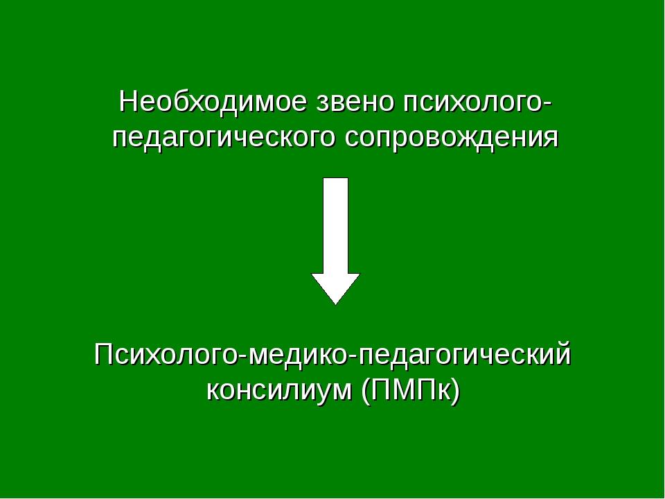 Психолого-медико-педагогический консилиум (ПМПк) Необходимое звено психолого-...