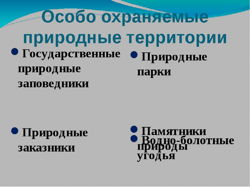 Особо охраняемые природные территории Государственные природные заповедники П...