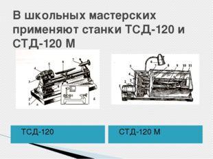 В школьных мастерских применяют станки ТСД-120 и СТД-120 М ТСД-120 СТД-120 М