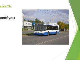 Категория Tb троллейбусы