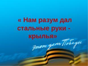 « Нам разум дал стальные руки - крылья»