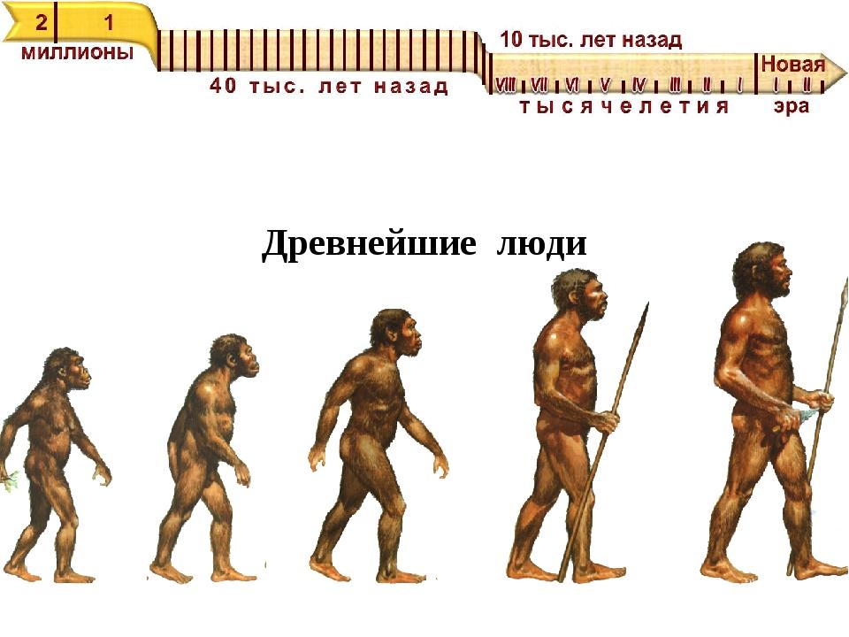 Древнейшие люди