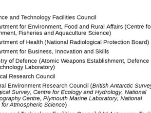 2 Science and Technology Facilities Council 3 Department for Environment,