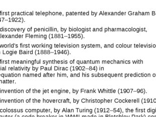 The first practical telephone, patented by Alexander Graham Bell (1847–1922)
