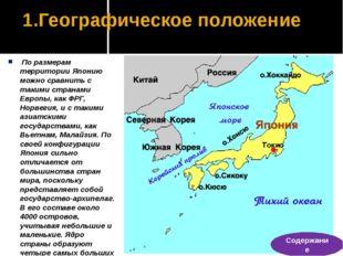 Население По численности населения Япония занимает 10 место в мире. Япония ст