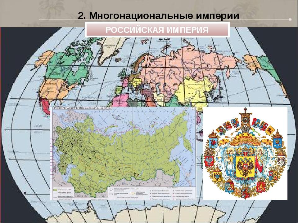 2. Многонациональные империи РОССИЙСКАЯ ИМПЕРИЯ