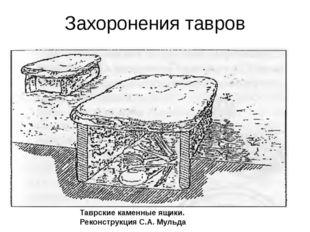 Захоронения тавров Таврские каменные ящики. Реконструкция С.А. Мульда