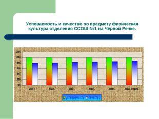 Успеваемость и качество по предмету физическая культура отделения ССОШ №1 на