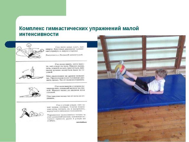 Комплекс гимнастических упражнений малой интенсивности С мячом