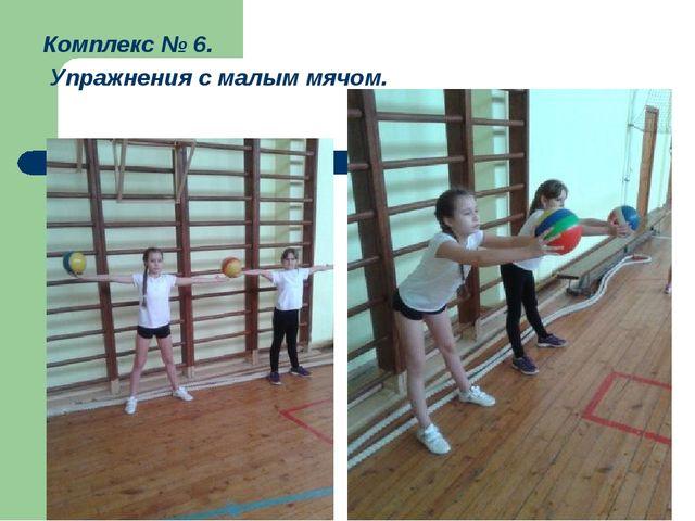 Комплекс № 6. Упражнения с малым мячом.