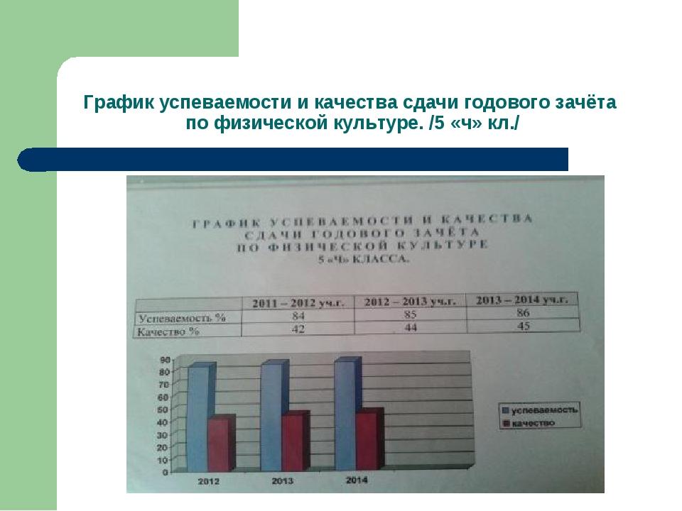 График успеваемости и качества сдачи годового зачёта по физической культуре....