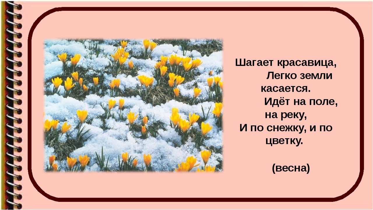 Шагает красавица, Легко земли касается. Идёт на поле, на реку, И по снежку, и...