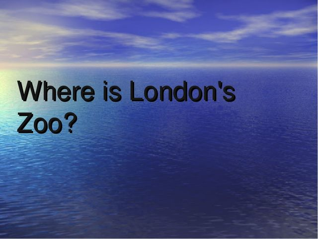Where is London's Zoo?