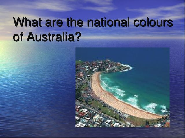 What are the national colours of Australia?