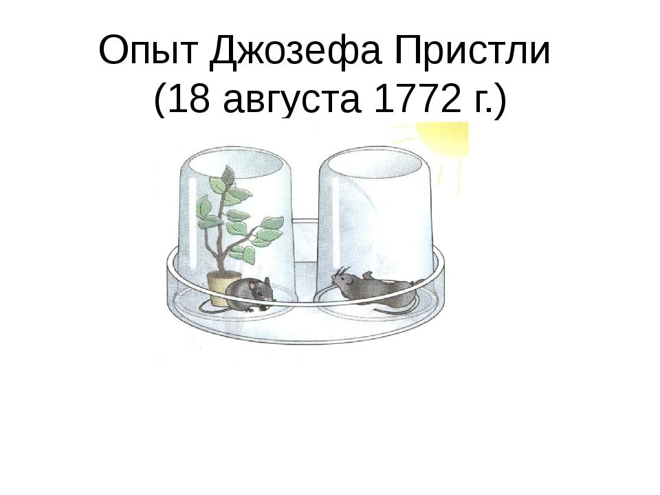 Опыт Джозефа Пристли (18 августа 1772 г.)