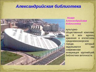 Новая Александрийская библиотека культурно-общественный комплекс на 8 млн ед