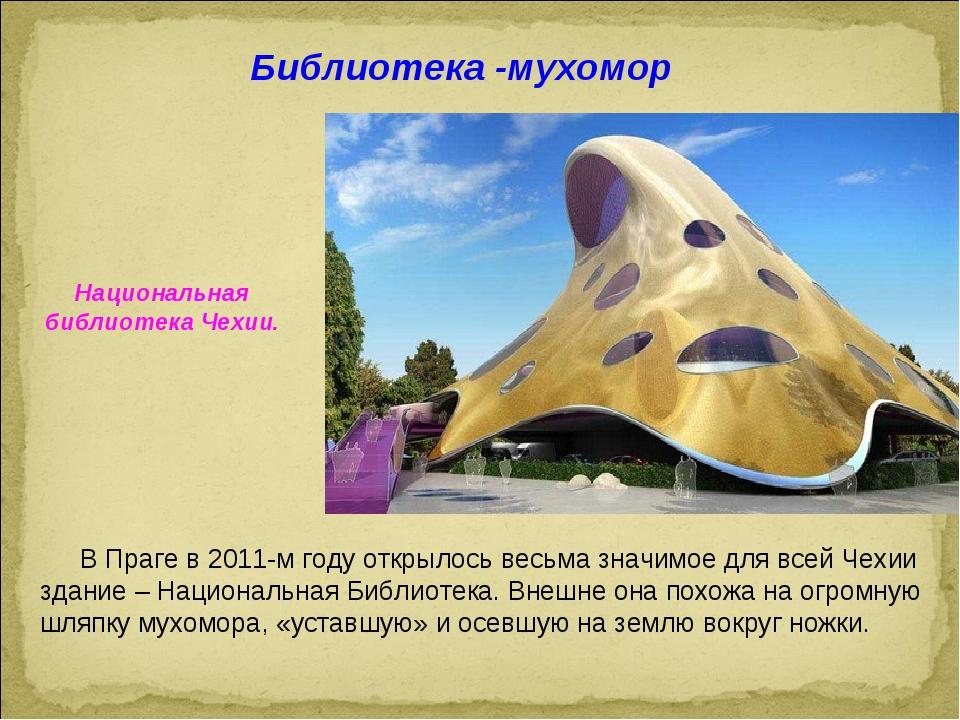 Национальная библиотека Чехии. Библиотека -мухомор В Праге в 2011-м году откр...