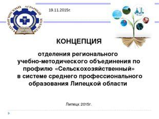 КОНЦЕПЦИЯ отделения регионального учебно-методического объединения по профил