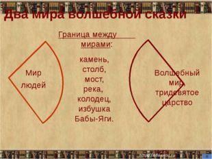 (23) Два мира волшебной сказки Мир людей Волшебный мир, тридевятое царство Гр