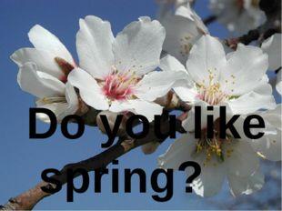 Do you like spring?