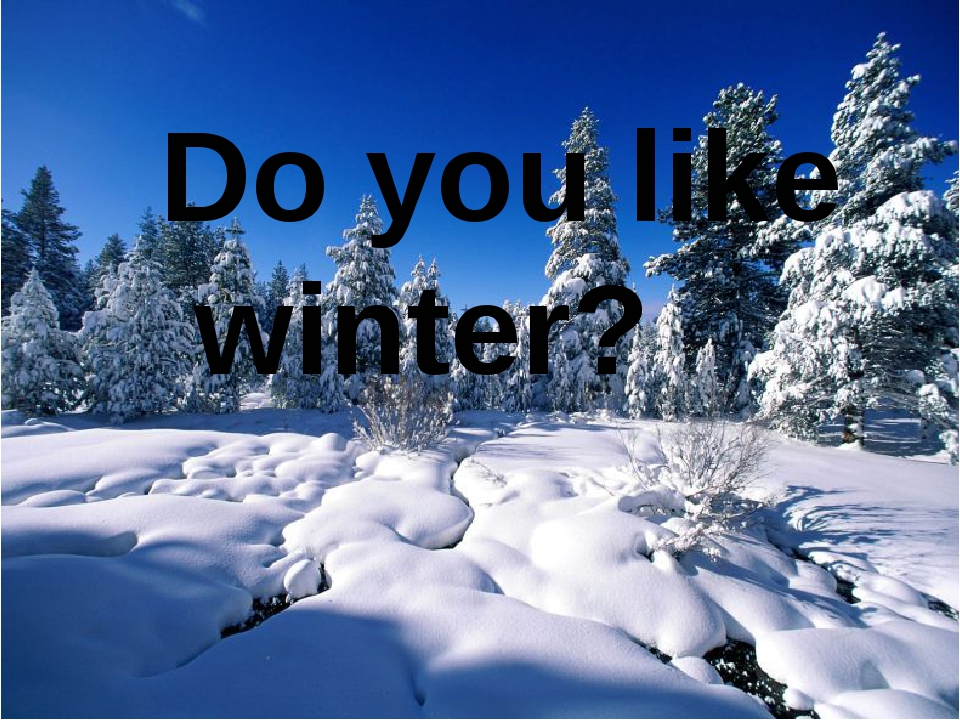 Do you like winter?