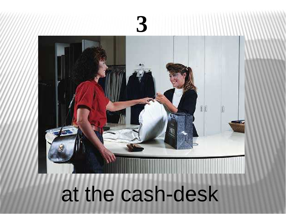 3 at the cash-desk