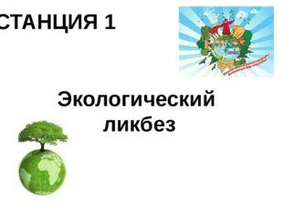 СТАНЦИЯ 1 Экологический ликбез