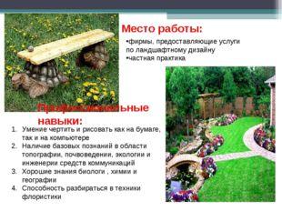 фирмы, предоставляющие услуги по ландшафтному дизайну частная практика Место