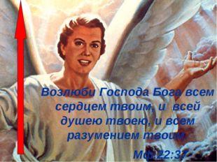 Возлюби Господа Бога всем сердцем твоим, и всей душею твоею, и всем разумение