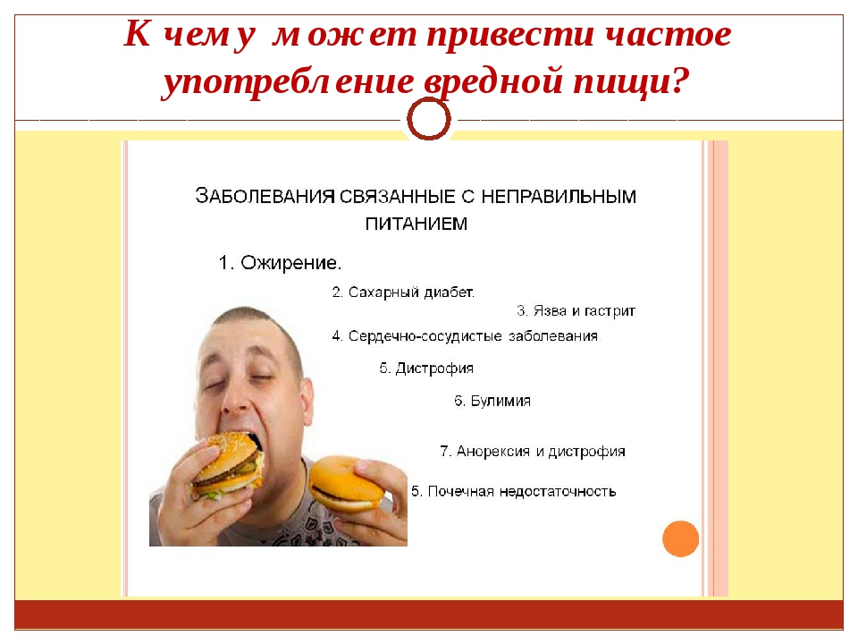 К чему может привести частое употребление вредной пищи?