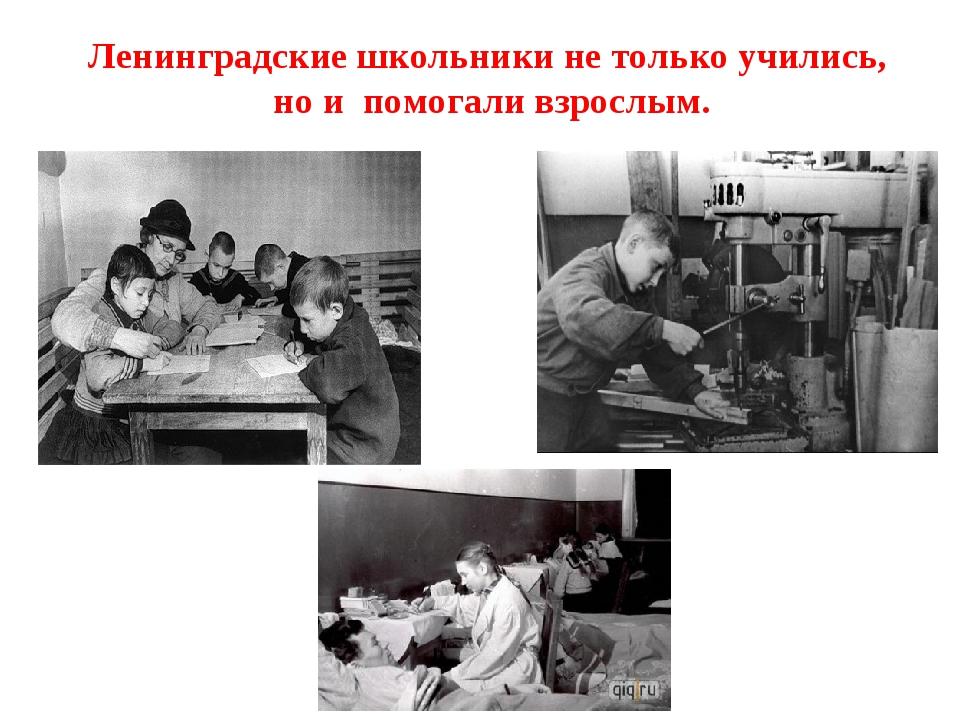 Ленинградские школьники не только учились, но и помогали взрослым.