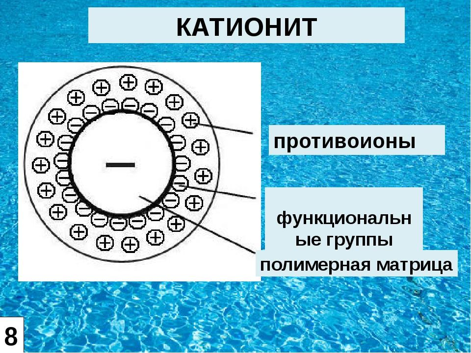 противоионы функциональные группы полимерная матрица КАТИОНИТ 8