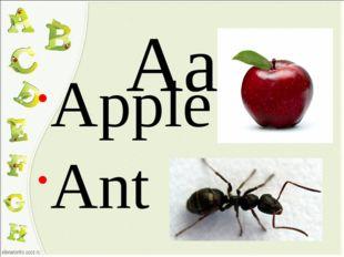 Aa Apple Ant