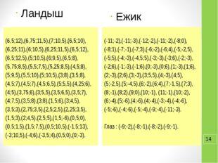 Ландыш (6,5;12),(6,75;11,5),(7;10,5),(6,5;10), (6,25;11),(6;10,5),(6,25;11,5)
