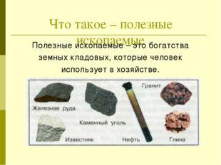 Исследуем полезные ископаемые Название полезного ископаемого ________________