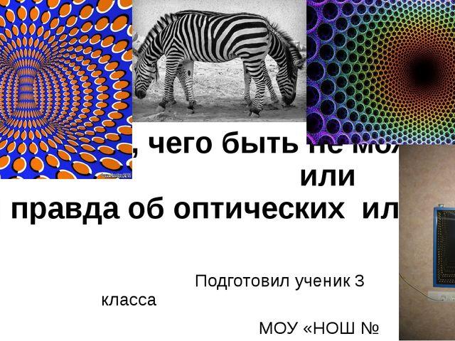 «Видеть то, чего быть не может» или «Вся правда об оптических иллюзиях» Подг...