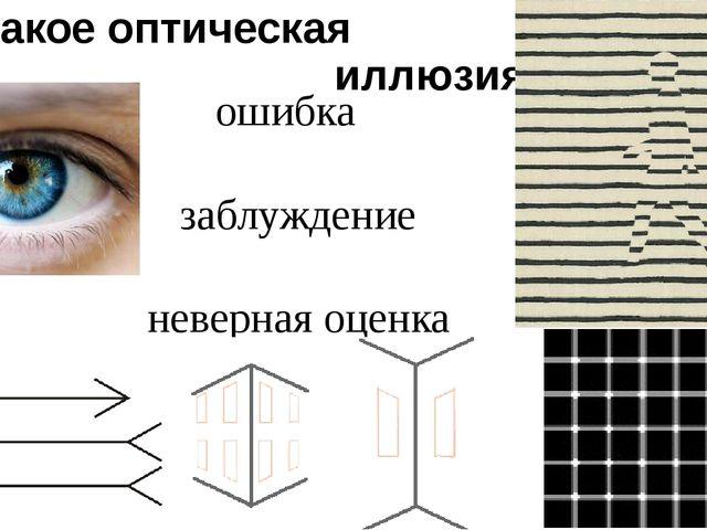 Что такое оптическая иллюзия? ошибка заблуждение неверная оценка