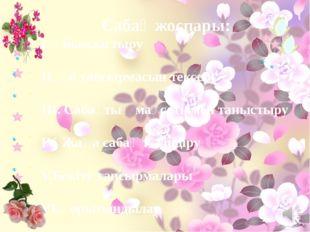 Сабақ жоспары: І. Ұйымдастыру ІІ. Үй тапсырмасын тексеру ІІІ. Сабақтың мақсат
