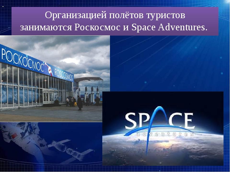 Организацией полётов туристов занимаютсяРоскосмосиSpace Adventures.