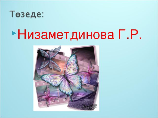 Низаметдинова Г.Р.