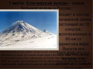 Входит в состав Ключевской сопки, состоящей из 12 конусов, расположенных в 60
