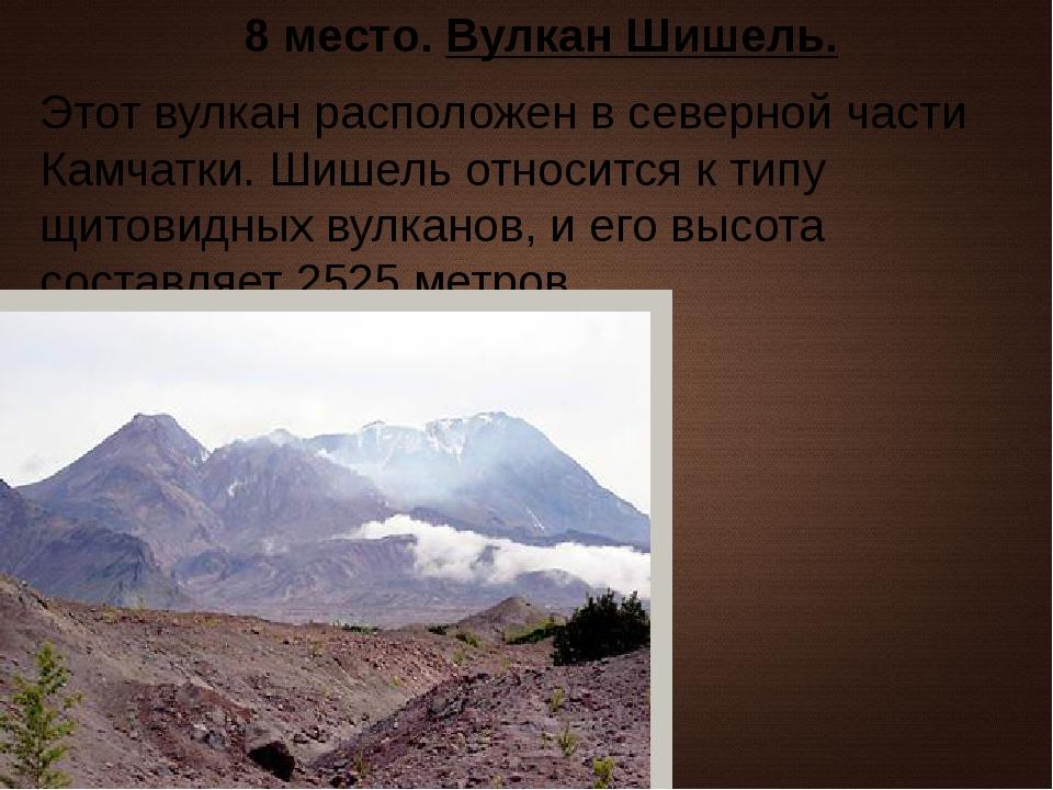 8 место. Вулкан Шишель. Этот вулкан расположен в северной части Камчатки. Шиш...