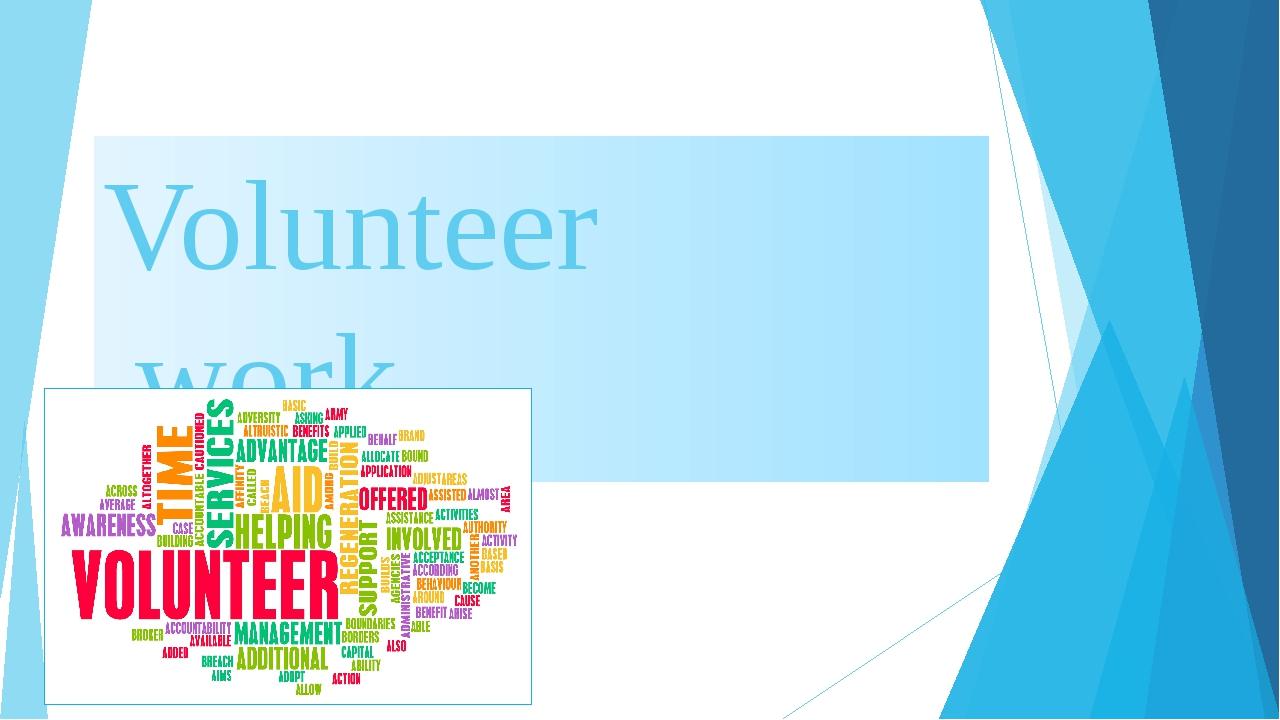 Volunteer work