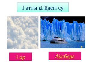 Қатты күйдегі су Қар Айсберг