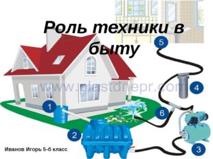 Презентация Игоря Иванова 5-б класс Роль техники в быту Иванов Игорь 5-б класс