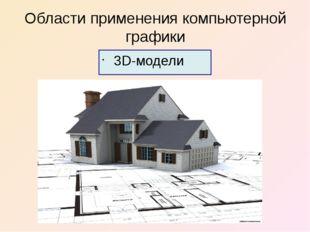 Области применения компьютерной графики 3D-модели