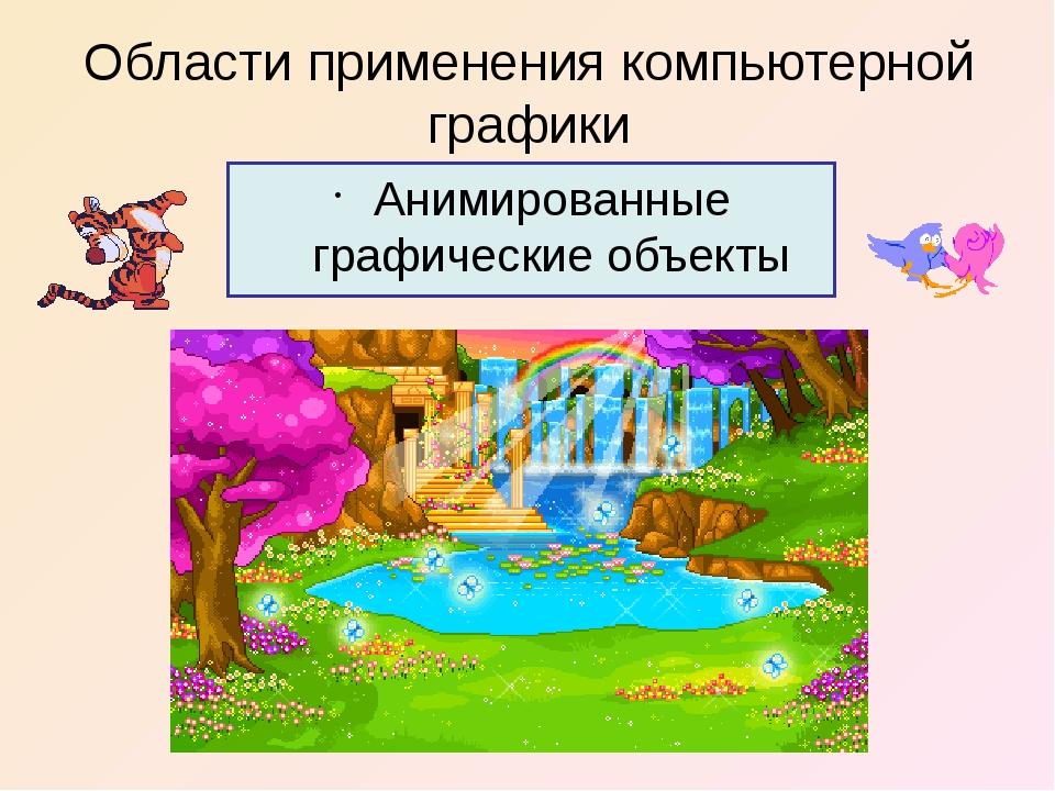 Области применения компьютерной графики Анимированные графические объекты