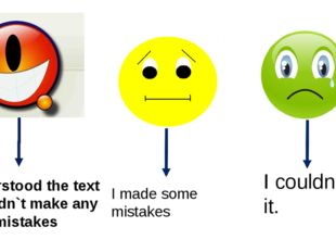 I understood the text and didn`t make any mistakes I made some mistakes I co