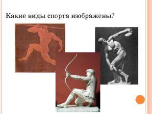 Какие виды спорта изображены?