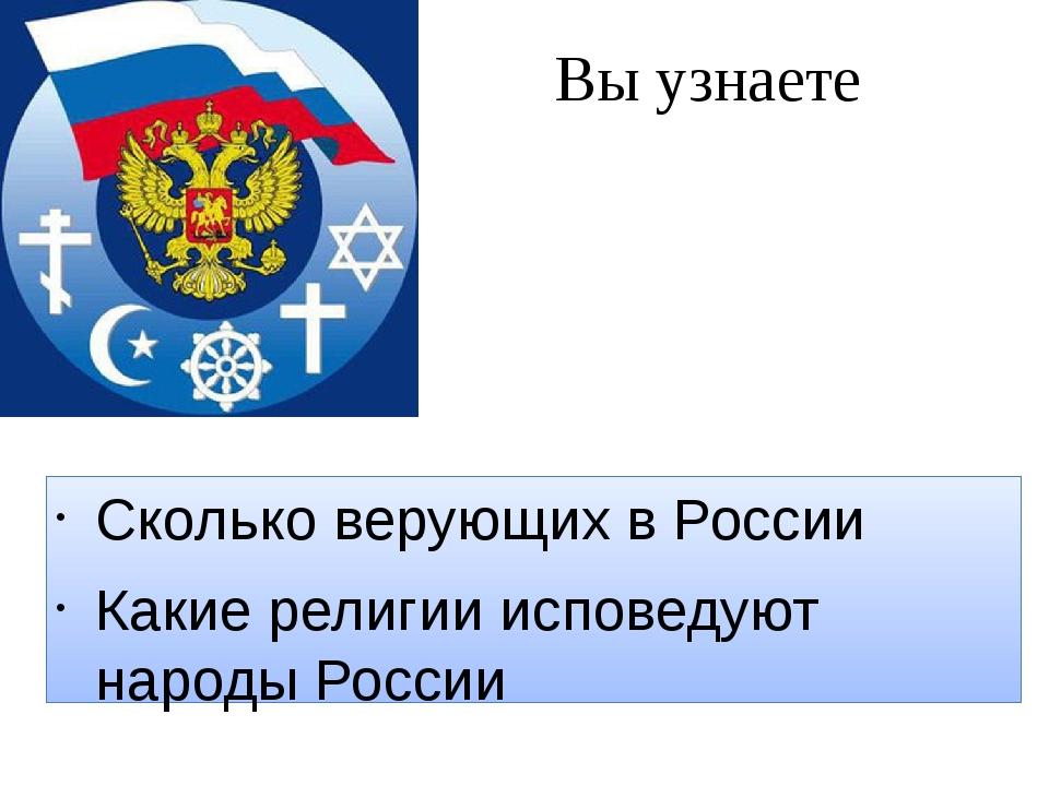 Вы узнаете Сколько верующих в России Какие религии исповедуют народы России